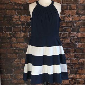 Eliza J Nautical Halter Nautical Dress
